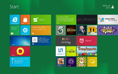 Windows 8 Tile Touchscreen