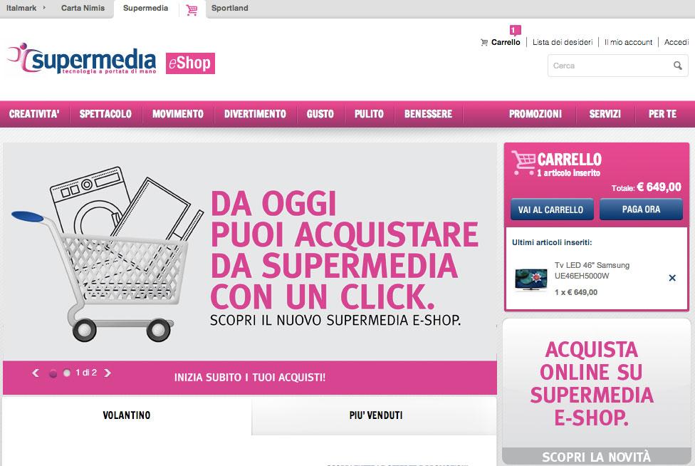 4b0ada00ba41 acquista on line con il nuovo e shop di supermedia - Le News ...