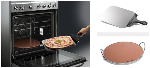 E arrivata la nuova cucina pizza di smeg le news - Piastra refrattaria per forno casalingo ...
